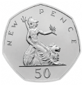 50 Years of the 50p Brilliant Uncirculated Coin Set 2019